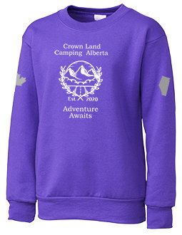 Youth Crown Land Camping AB Crew Neck