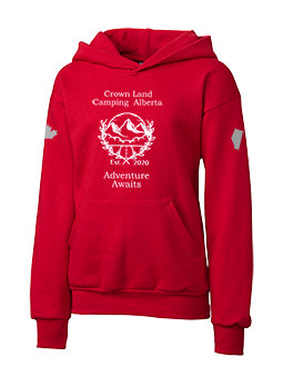 Youth Crown Land Camping AB Pullover Hoodie