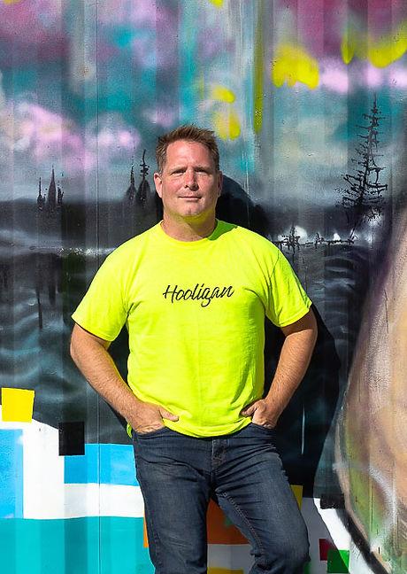 T-shirt YELLOW Hooligan - varied BG v1.j