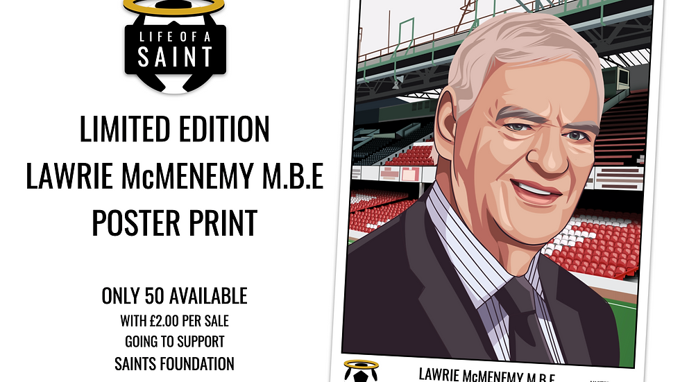 Lawrie McMenemy Limited Edition Poster