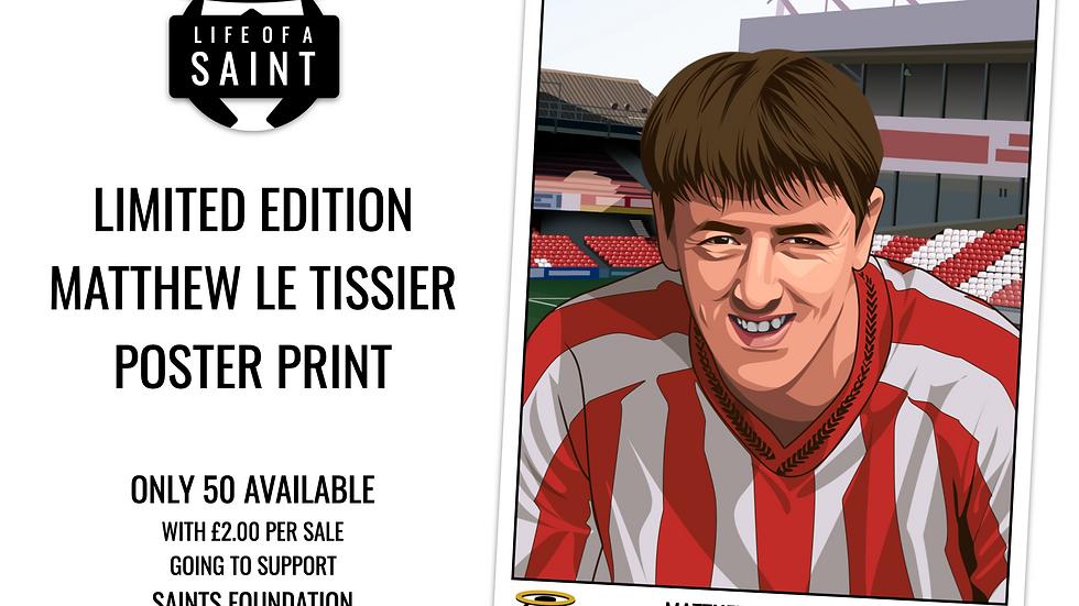 Matt Le Tissier Limited Edition Poster