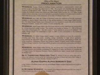 Alpha Kappa Alpha Day Declared in Hoffman Estates