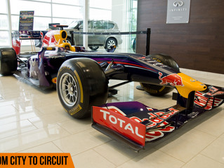 Up close and personal with a Red Bull F1 car