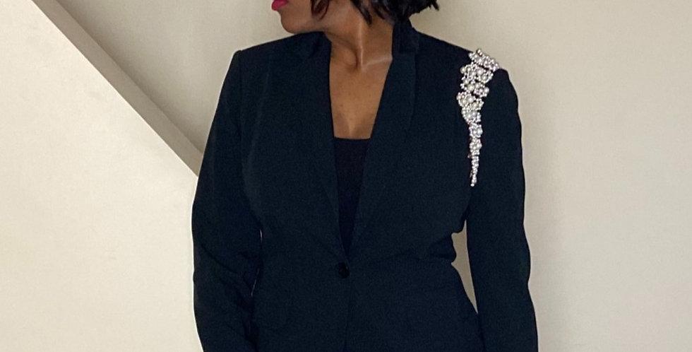 Pearl Shoulder Blazer
