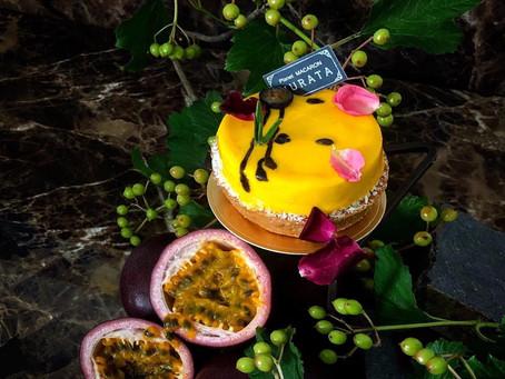 パッションフルーツとキャラメルのタルト