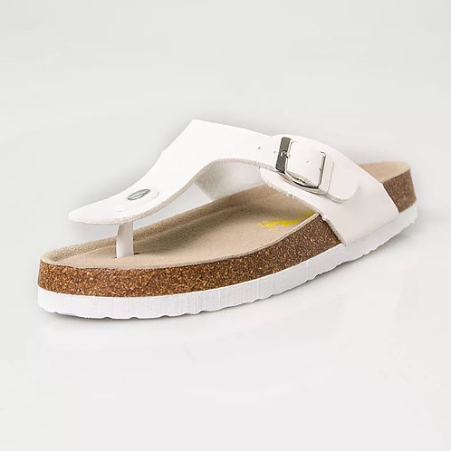 Women casual white  cork beach slipper sandal