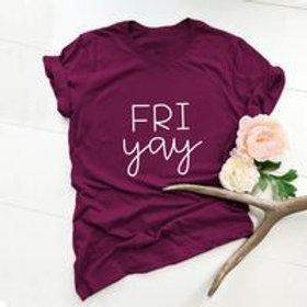 Fri yay  women's cotton print T-shirt