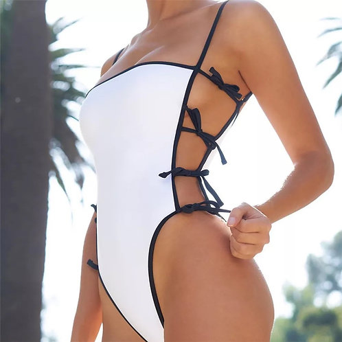 Sexy one piece bikini swimsuit.