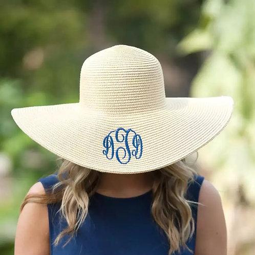 156-58cm Natural Grass Beach Hat