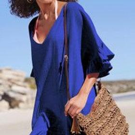 Women's cotton beach dress cover up