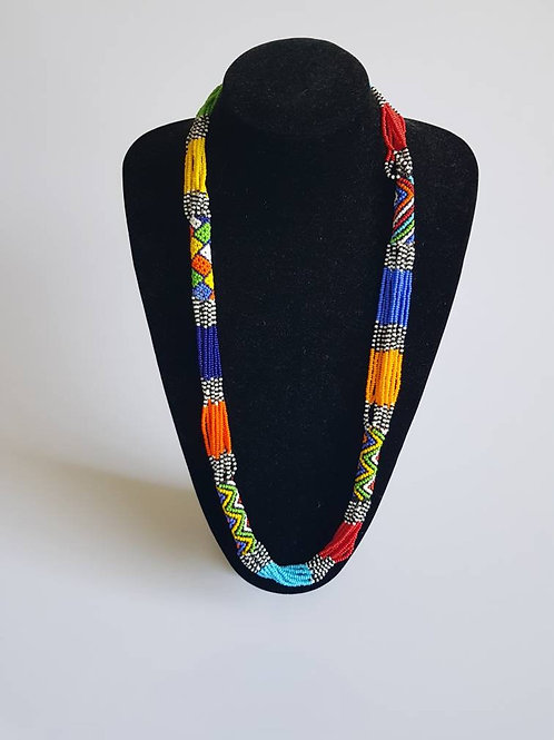 Multi color  African beaded necklace