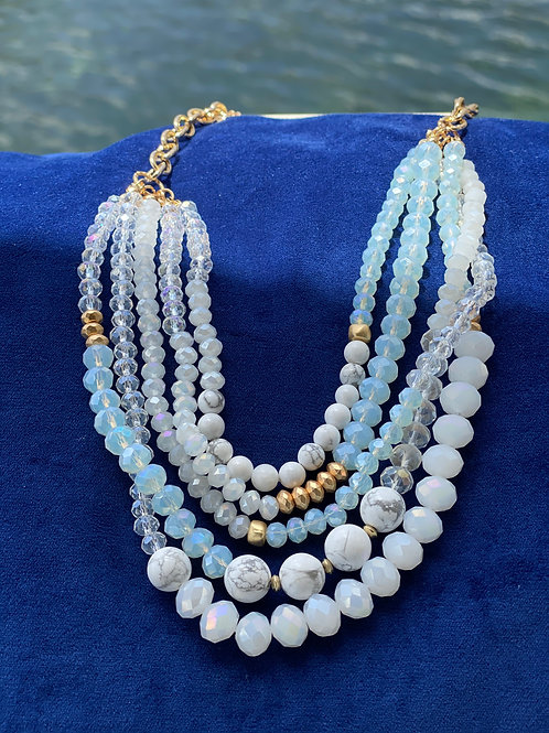Mix beads statement necklace