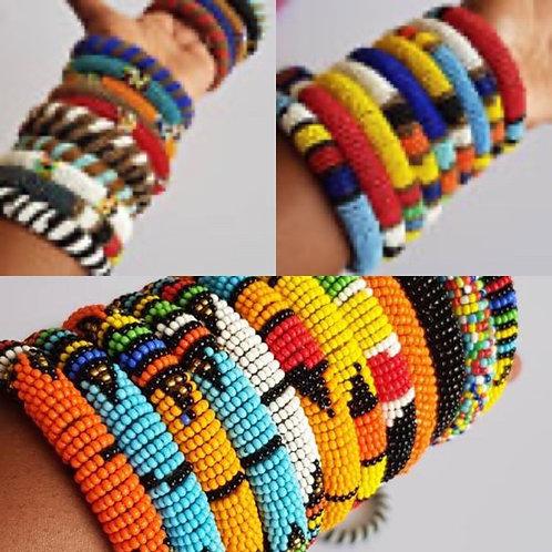 African bangles , assorted bracelets