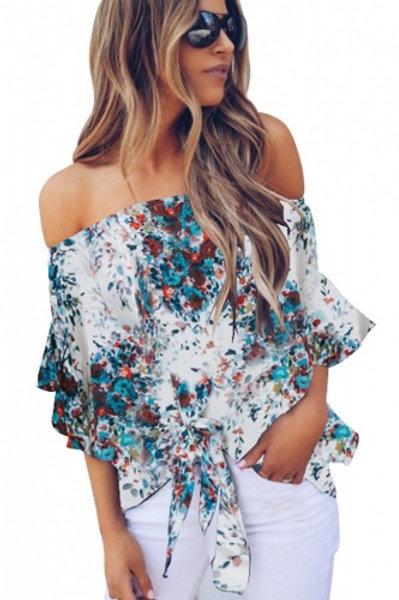 Flirty off shoulder blouse.