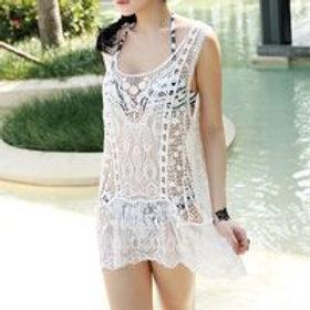 Women's lace beach dress