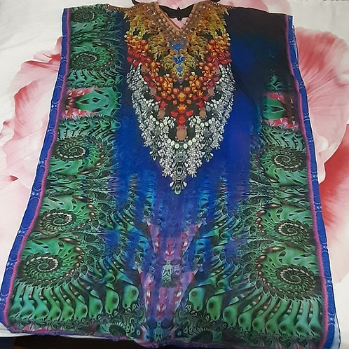 Multi color print Caftan