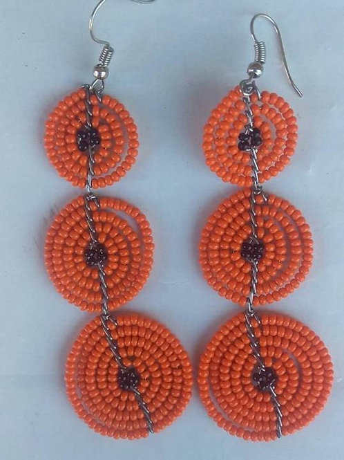 Maasai colorful beaded African earring