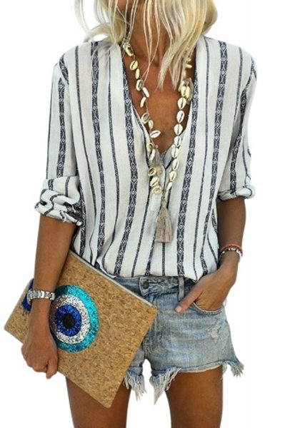 Relaxed button down sleeve top