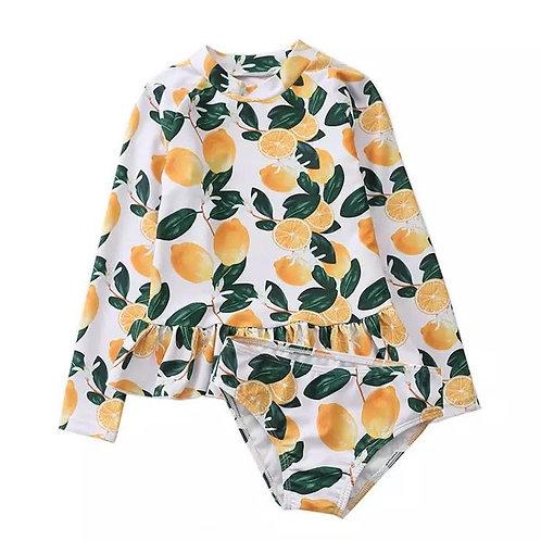 Long Sleeve Kids Swimsuit Sun Protection
