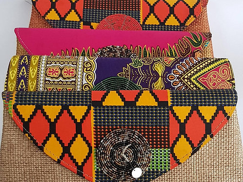 Beaded African purse
