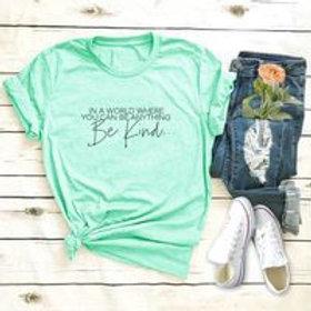 Be kind  women's cotton print T-shirt