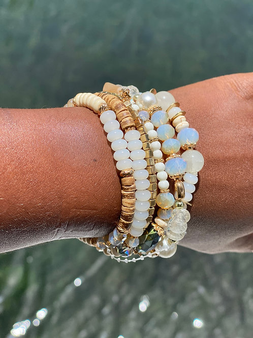 Multi stone stackable bracelet