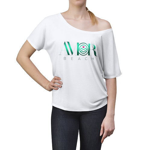 Women's Slouchy top, Amorbeach print