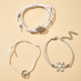 Snowflake Mountain Bracelet 3-piece Set