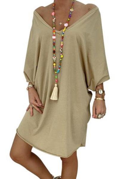 Khaki Petite Robe Farah