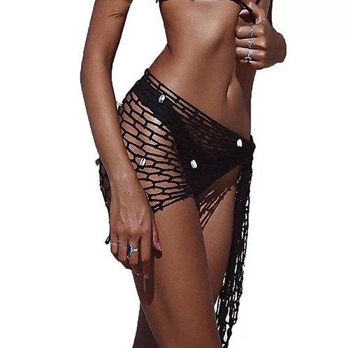Women's sexy fishnet bikini skirt  beach cover up.