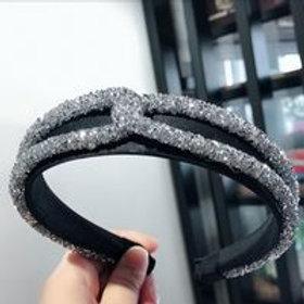 New Sparkling Cross Crystal Headband
