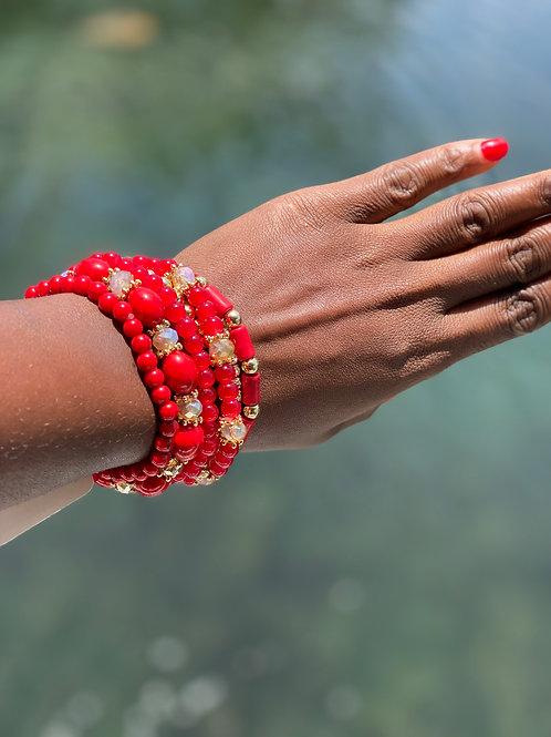 Multi bead stackable bracelet