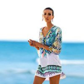 Women's sheer beach cover up