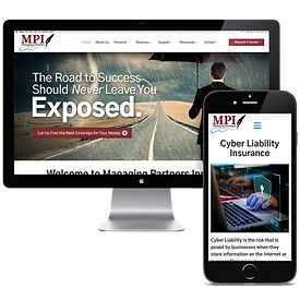 mpi insurance website design by vast str