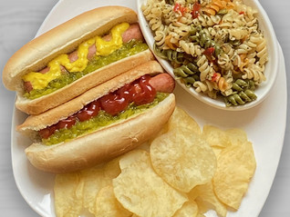 Hot Dogs, Chips, and Pasta Salad