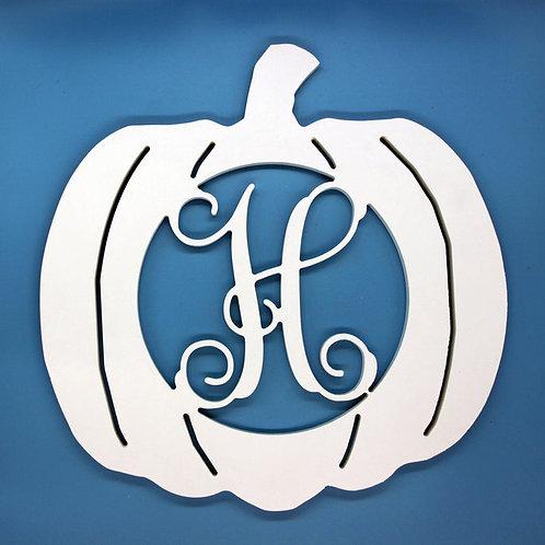Pumpkin Letter Initial Monogram