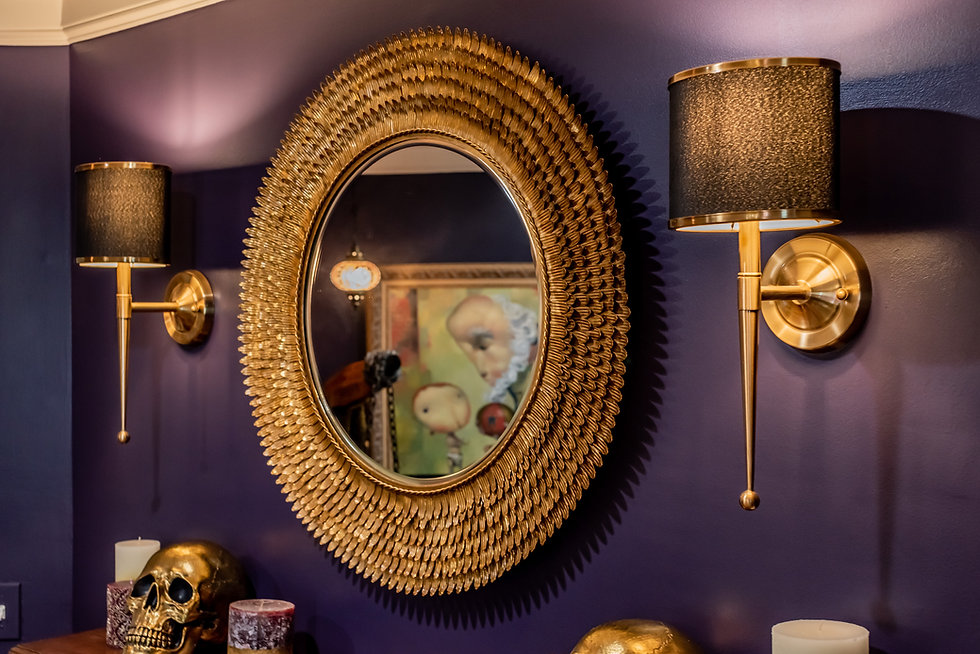 wall ideas mirror Margie Stapf Interiors