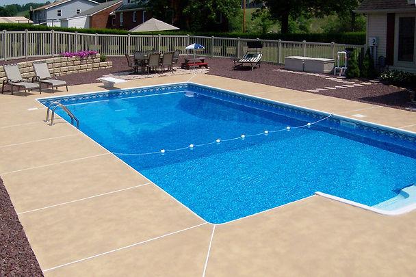 pool concrete surround central pa hallma