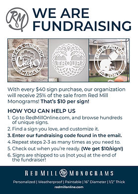 Red Mill Monograms Easiest Fundraising Card for Organizations