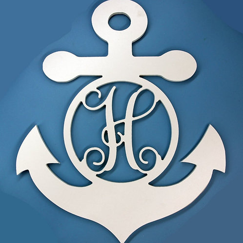Nautical Anchor with Letter Initial Monogram