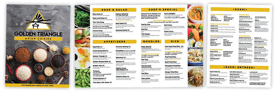 Golden Triangle Menu