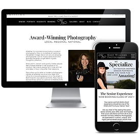 Mary Williams Photography Website Design