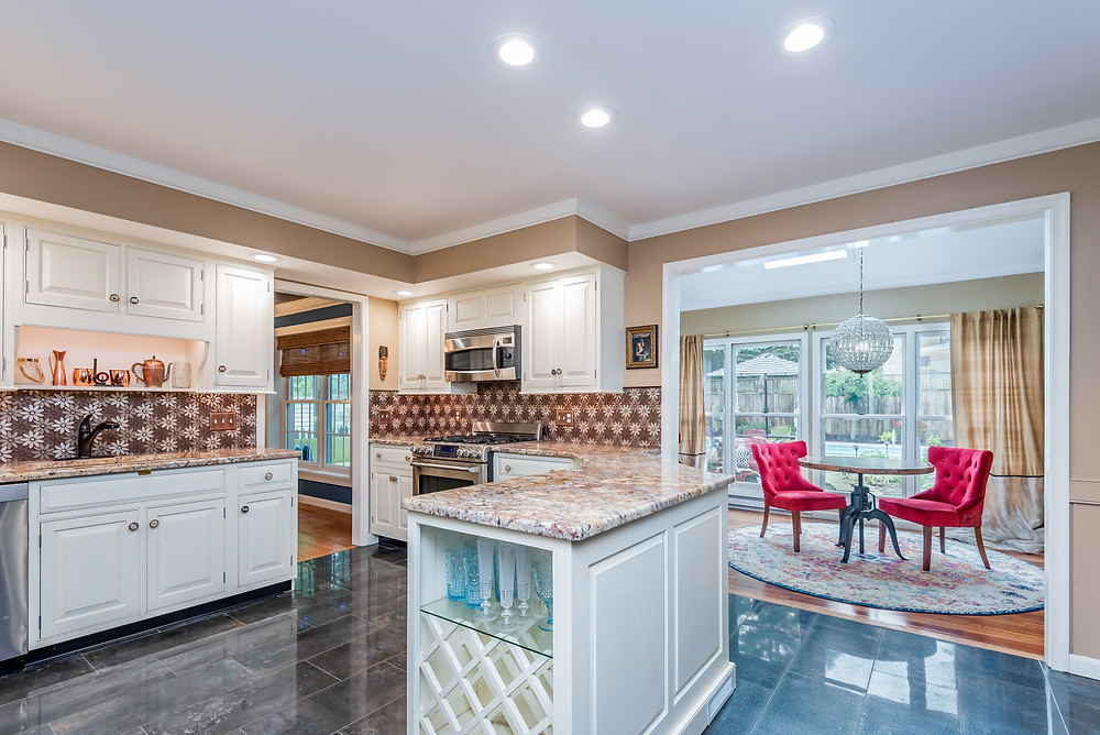 Modern and Unique Kitchen Renovation by Margie Stapf Interiors in Mechanicsburg PA