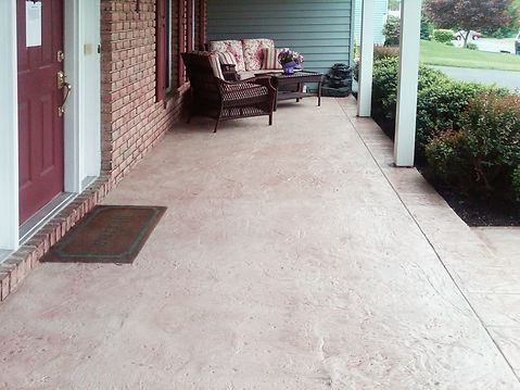 hallmark concrete stamping custom patio