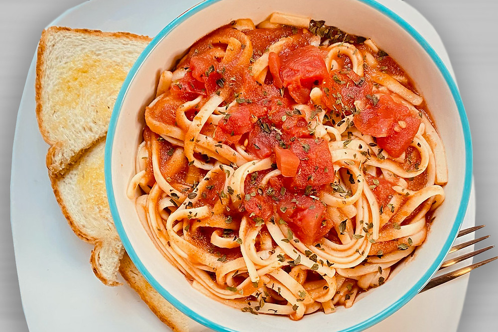 Spaghetti pasta with toast helping hands against hunger Recipe.jpg