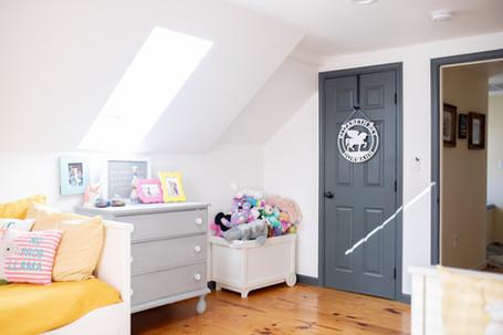 Red Mill Monogram Girls bedroom Personal