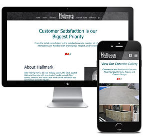 Hallmark Concrete Construction Website D