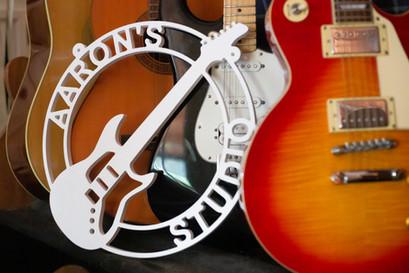 Red Mill Monograms Guitarist Musician De