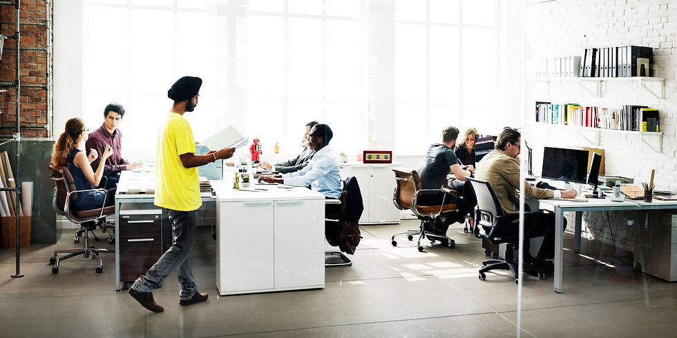 Office with Diverse people in a worker co-op