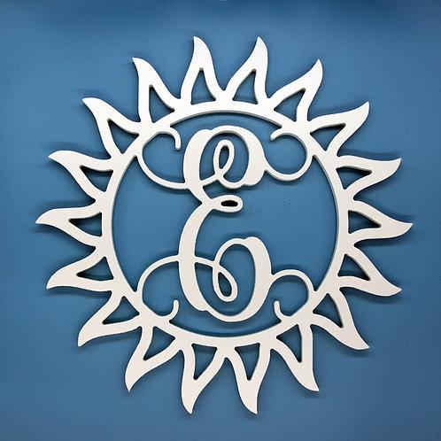 Sun Letter Initial Monogram